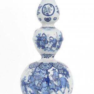 Antique Willem & Lambertus Cleffius Gourd Shaped Vase