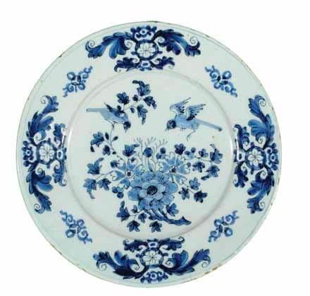 Antique delftware plate by Willem & Lambertus Cleffius