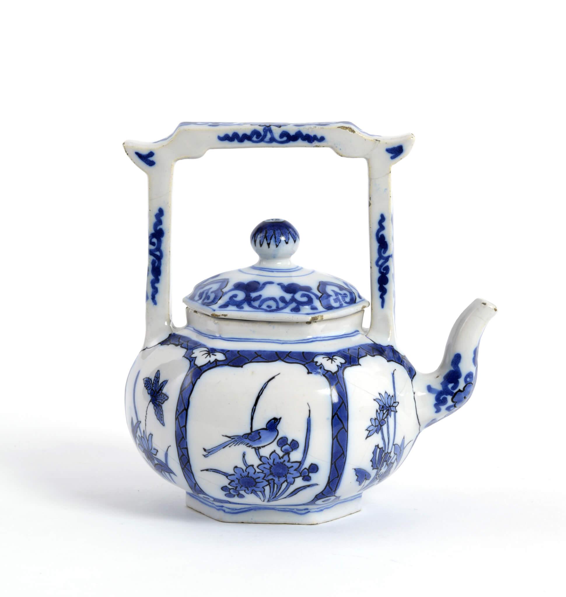 Delftware Teapot Antique Aronson Antiquairs