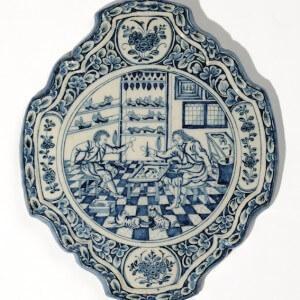 Aronson Delftware Blue And White Plaque