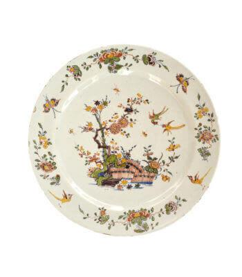 1760. Polychrome Plate