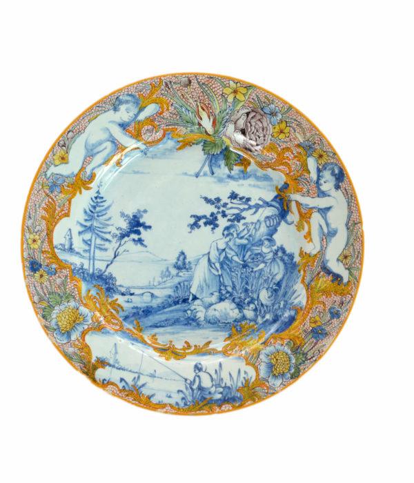 polychrome antique plate
