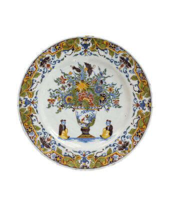 1783. Polychrome Plate