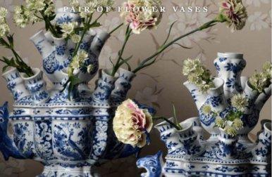 Transcending Allure, Pair Of Flower Vases