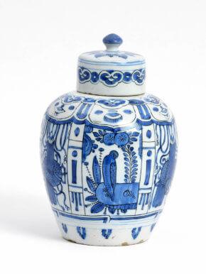 Antique Kraak-style Jar At Aronson Antiquairs