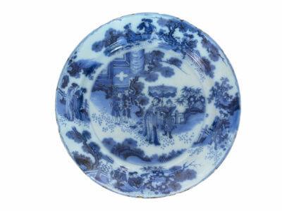 Antique Plate Ceramic Delftware
