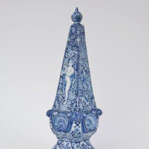 Antique Obelisk Delftware Aronson