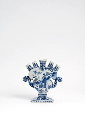Antique Delftware Flower Vase