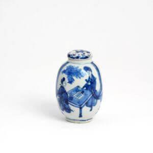 Delftware Tea Canister Aronson Antiquairs