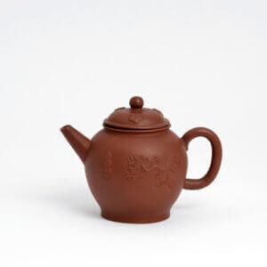 Red Antique Stoneware Teapot Aronson Antiquairs