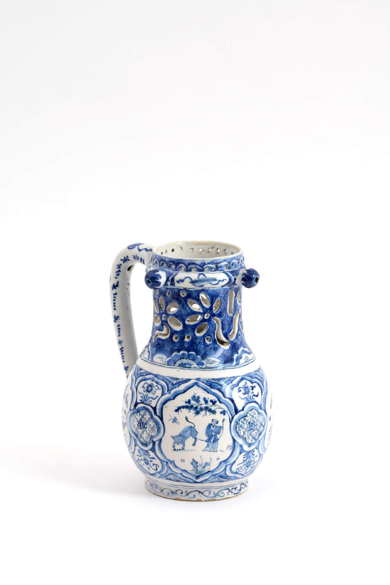 Delftware Puzzle jug Aronson Antiquairs