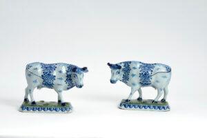 Delftware Cow Figurines