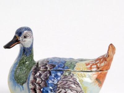 Antique Polychrome Duck