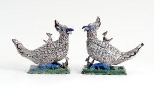 Antique Polychrome Pheasant Tureens Aronson Antiquairs