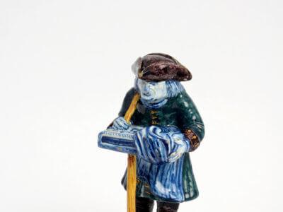 Street Vendor Polychrome Figure Antique
