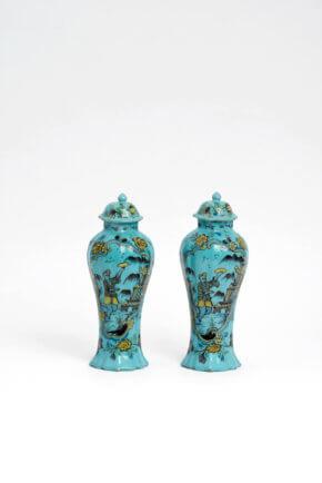 Turquoise Ceramic Vases Aronson Antiquairs
