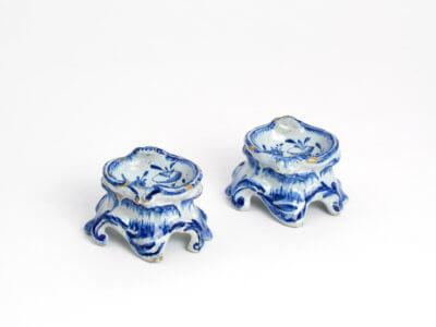 Delf Blue Ceramic Salt Cellars