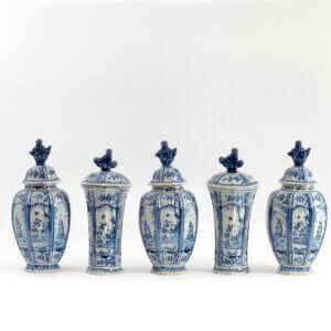 Ceramic Garniture Aronson Antiquairs