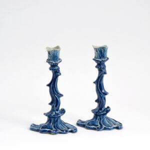 Delftware Candlesticks Antique