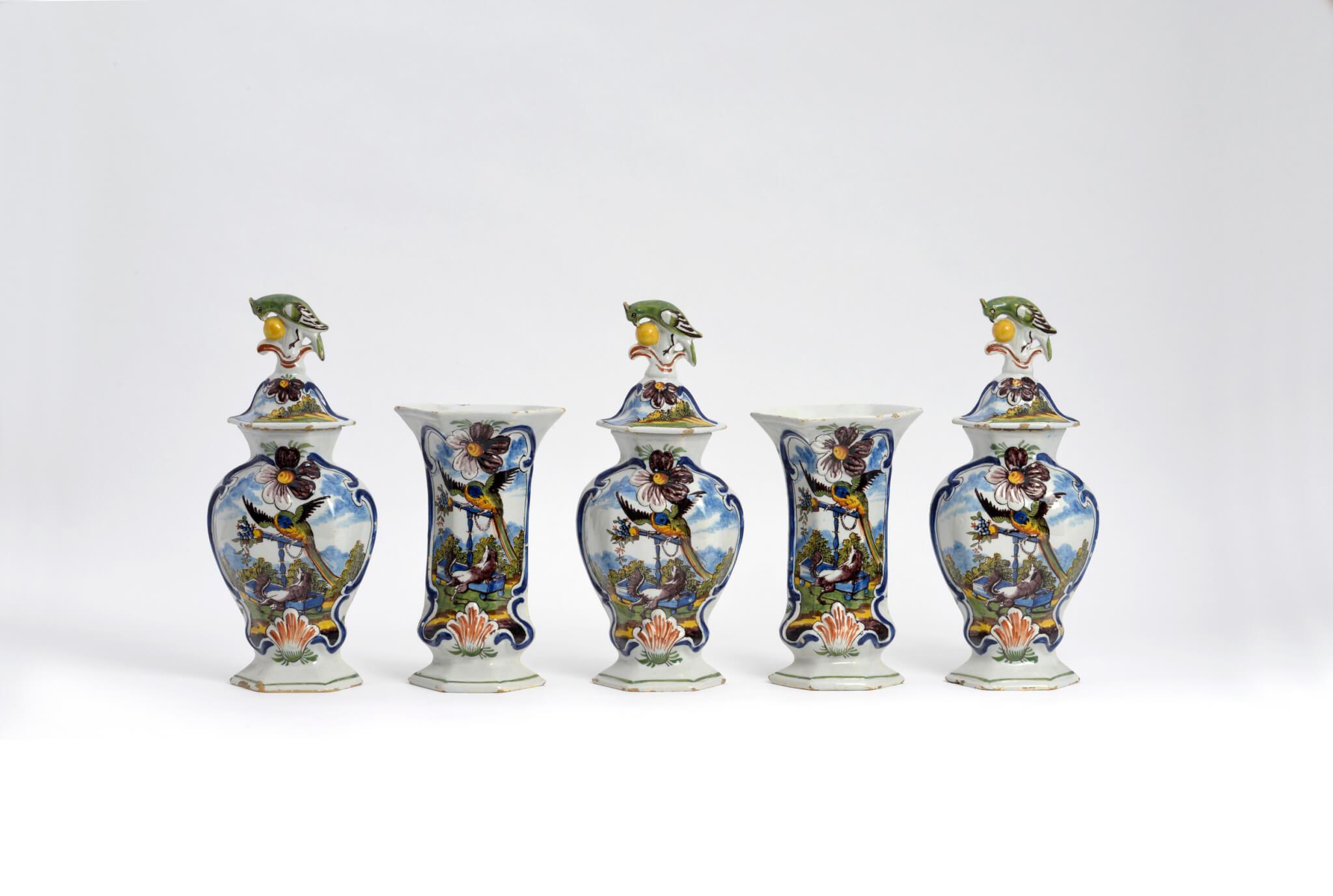 antique polychrome ceramic