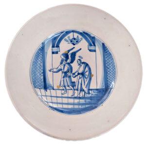 Antique Biblical Charger Delftware