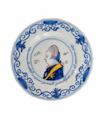 1891. Polychrome Orangist Plate