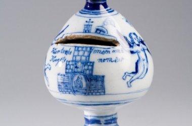 Antique Delftware Money Bank