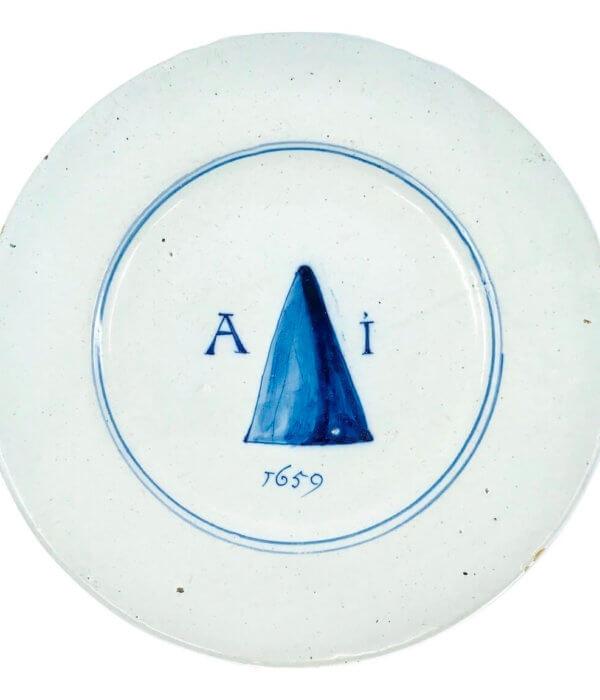 antique delftware plate
