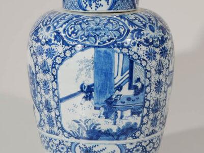 Ceramic Large Jar Antique Delftware