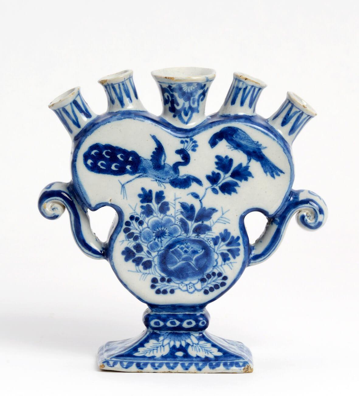 delftware flower vase