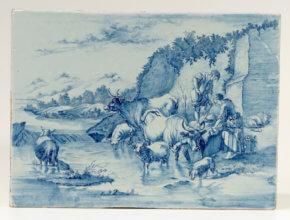 Ceramic Blue Delftware Plates Aronson Antiquairs