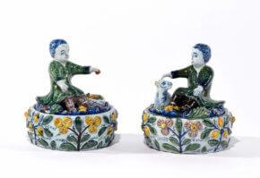 Antique Delftware Butter Tubs