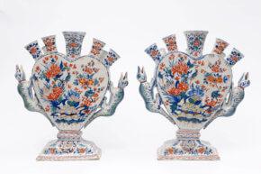 Cashmere Dutch Delft Pottery Vases