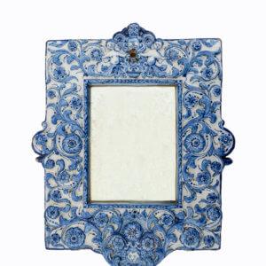 Antique Ceramic Mirror Frame Aronson Antiquairs