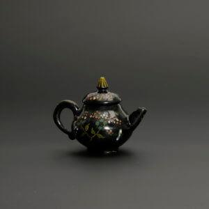 Black Delftware Teapot