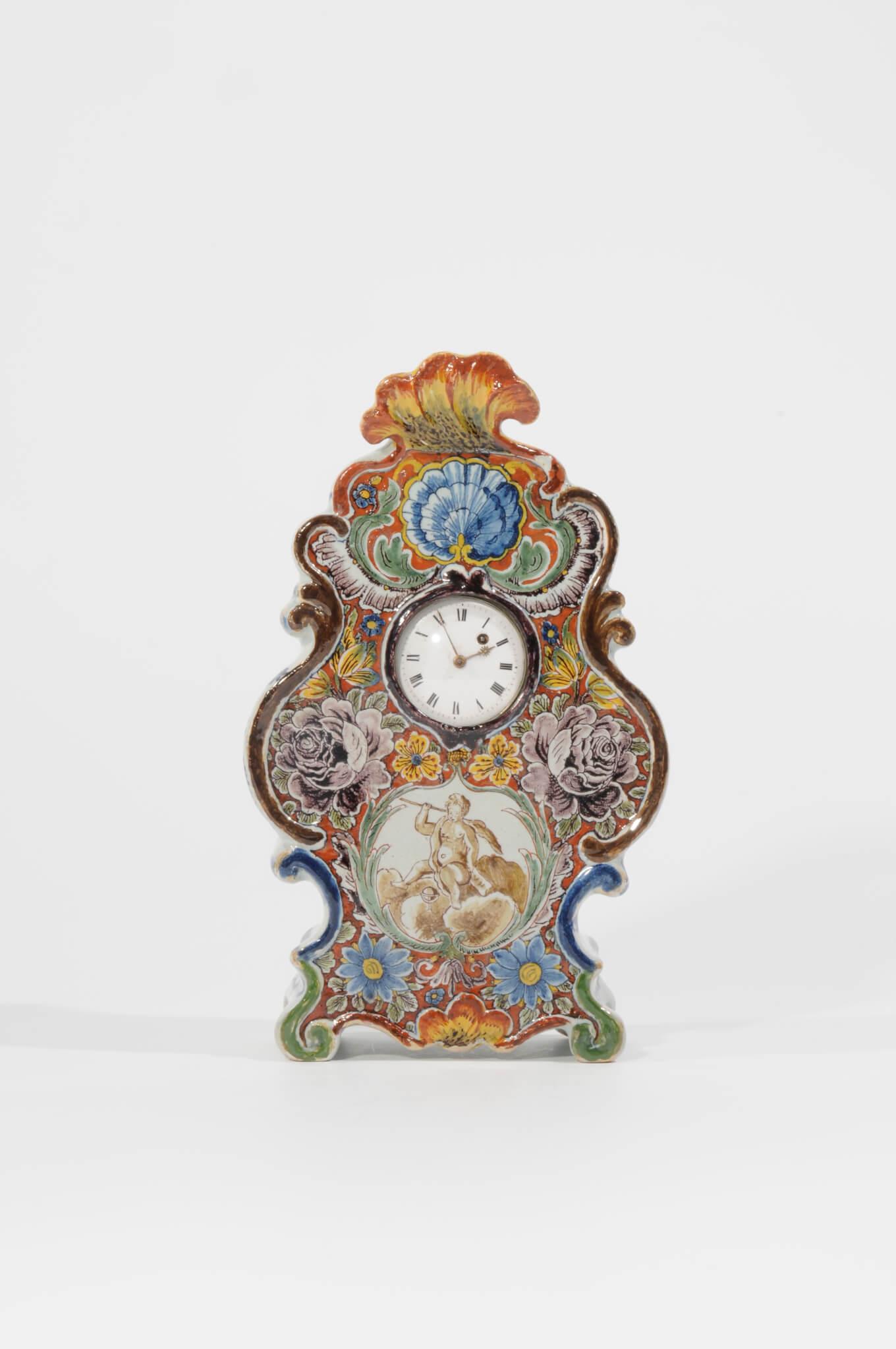 •D1073. Polychrome Rococo Pocket-Watch Stand