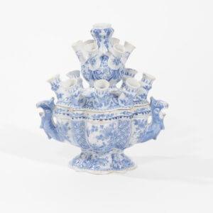 Antique Delftware Flower Bowl