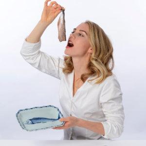 Eating Raw Herring