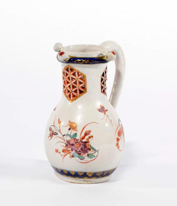 D1618 Petit feu polychrome and gilded puzzle jug