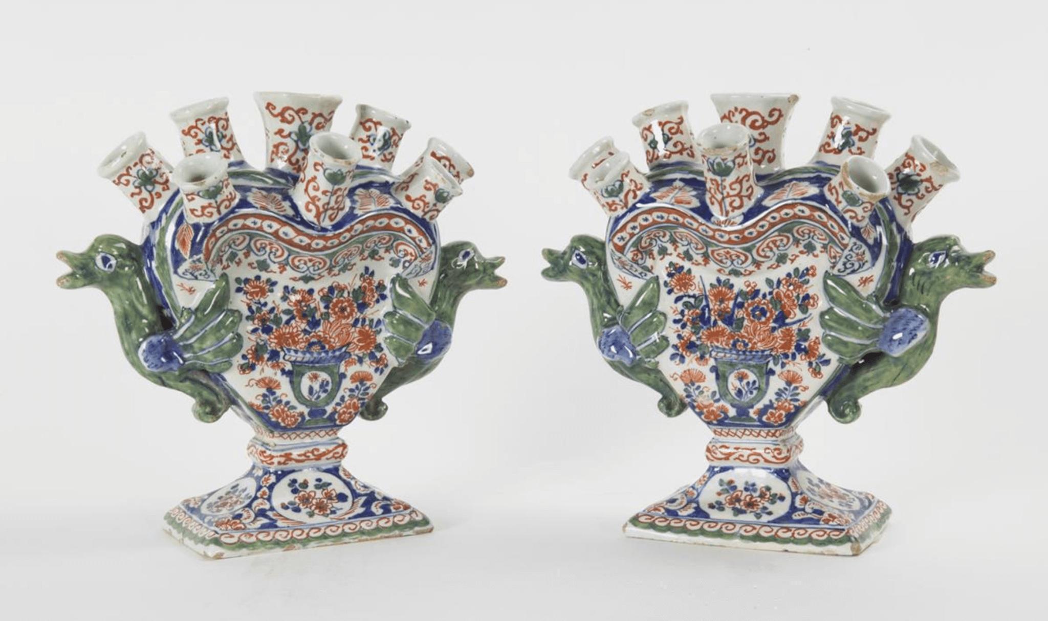 Cashmere Delftware vases