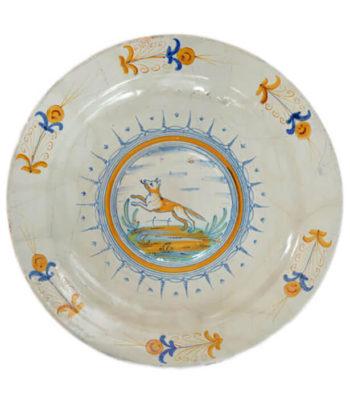 D1902. Majolica Polychrome Large Dish