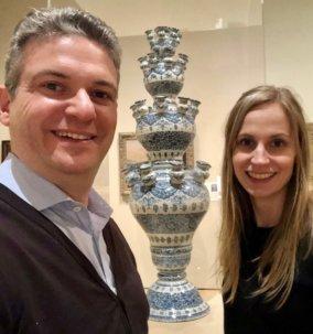 Céline Ariaans and Robert Aronson at the Minneapolis Institute of Arts
