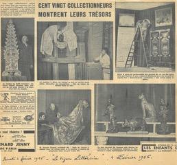 Le Cabinet de l'Amateur exhibition, Paris 1956. Article paper