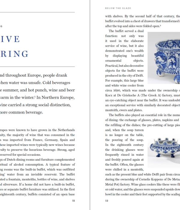 Article 'A festive gathering'. Below the Glaze publication