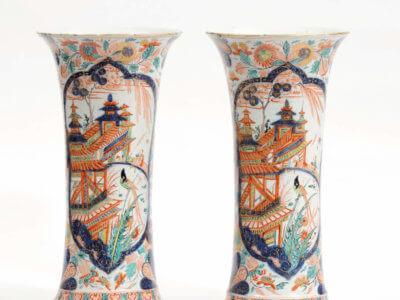 Delftware Beaker Vases