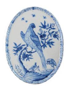 Blue And White Delftware Plaque