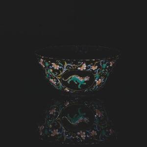 Black Delftware Bowl