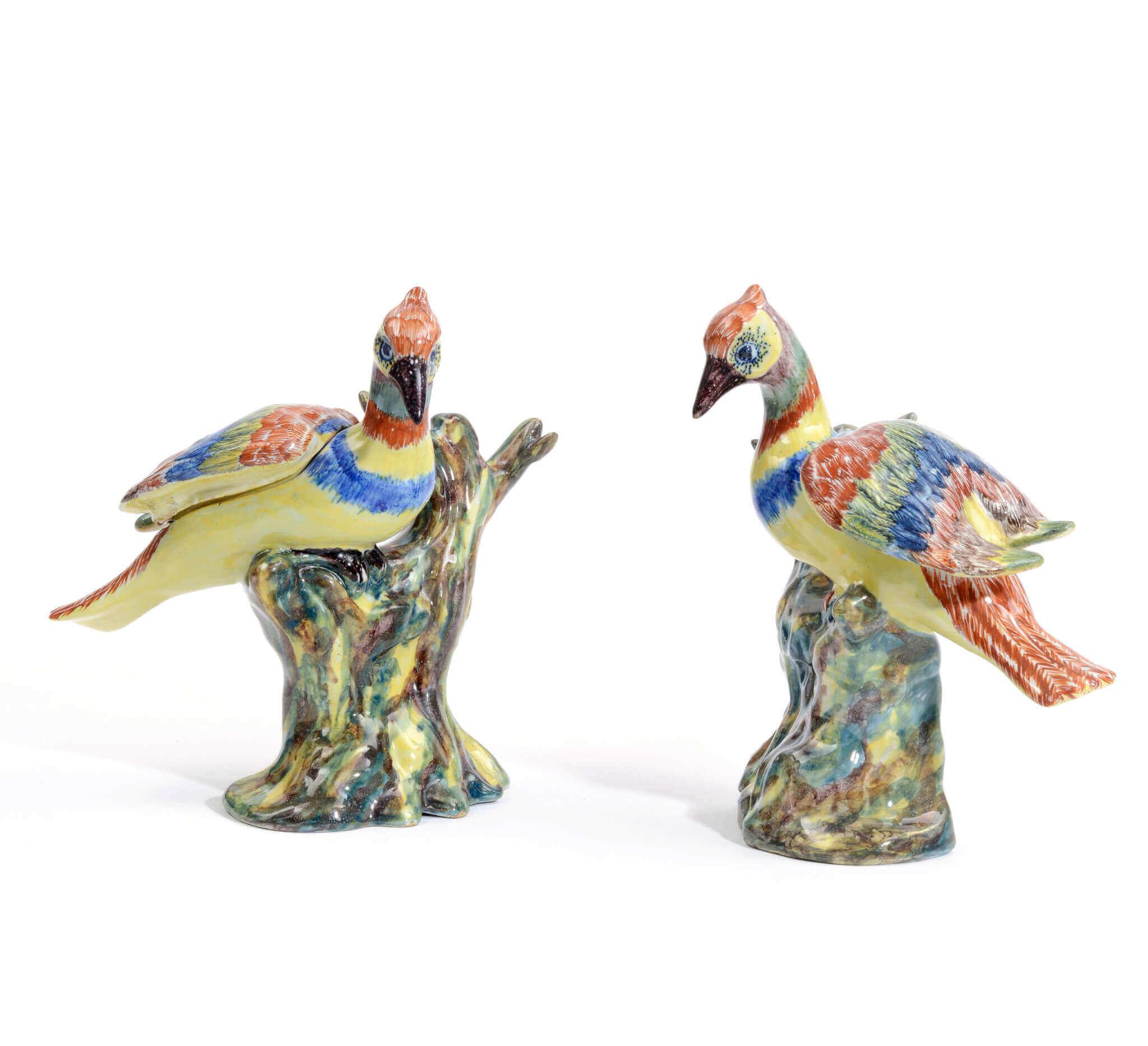 Delftware Bird Boxes