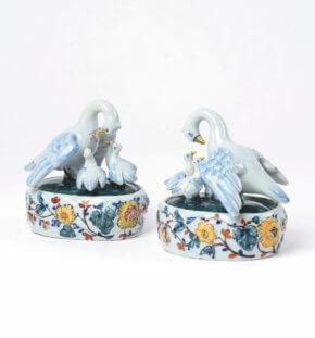 Polychrome Delftware Tureens