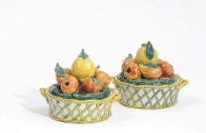 Polychrome Delftware Fruit Basket Tureens